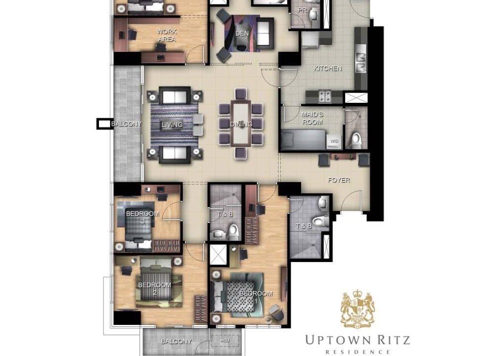 2 bedroom condo unit for Rent Uptown Ritz Residences, BGC, Taguig City (1)